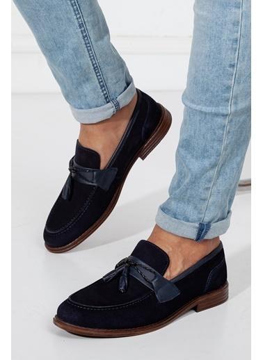 Dilimler Ayakkabı Dilimler Ayakkabı Iç Ve Dış Hakiki Deri Kaydırmaz Termo Taban Püsküllü Erkek Günlük Ayakkabı Lacivert
